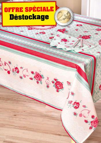 Nappe Jardin De Roses 4 Serviettes De Table Assorties Cafe