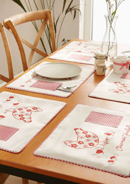 6 sets de table en tissu