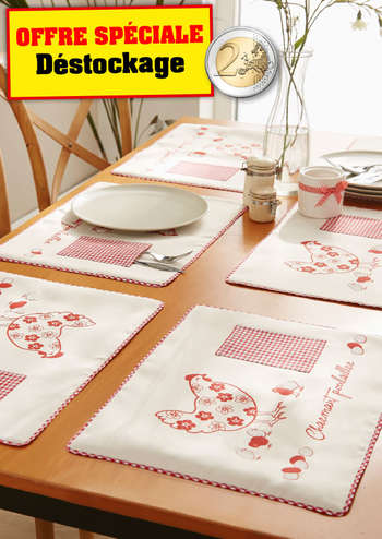 Sets de table en tissu x6