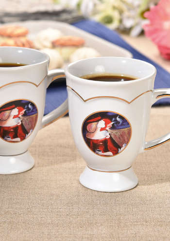 2 Mugs en porcelaine